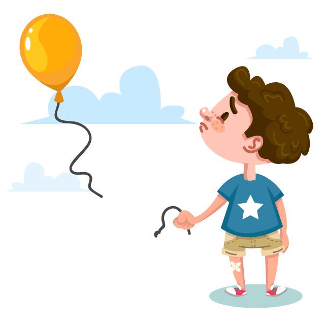 404 Pagina no encontrada niño con globo